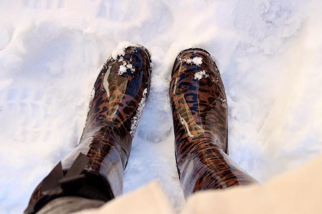 botas de agua leopardo nieve