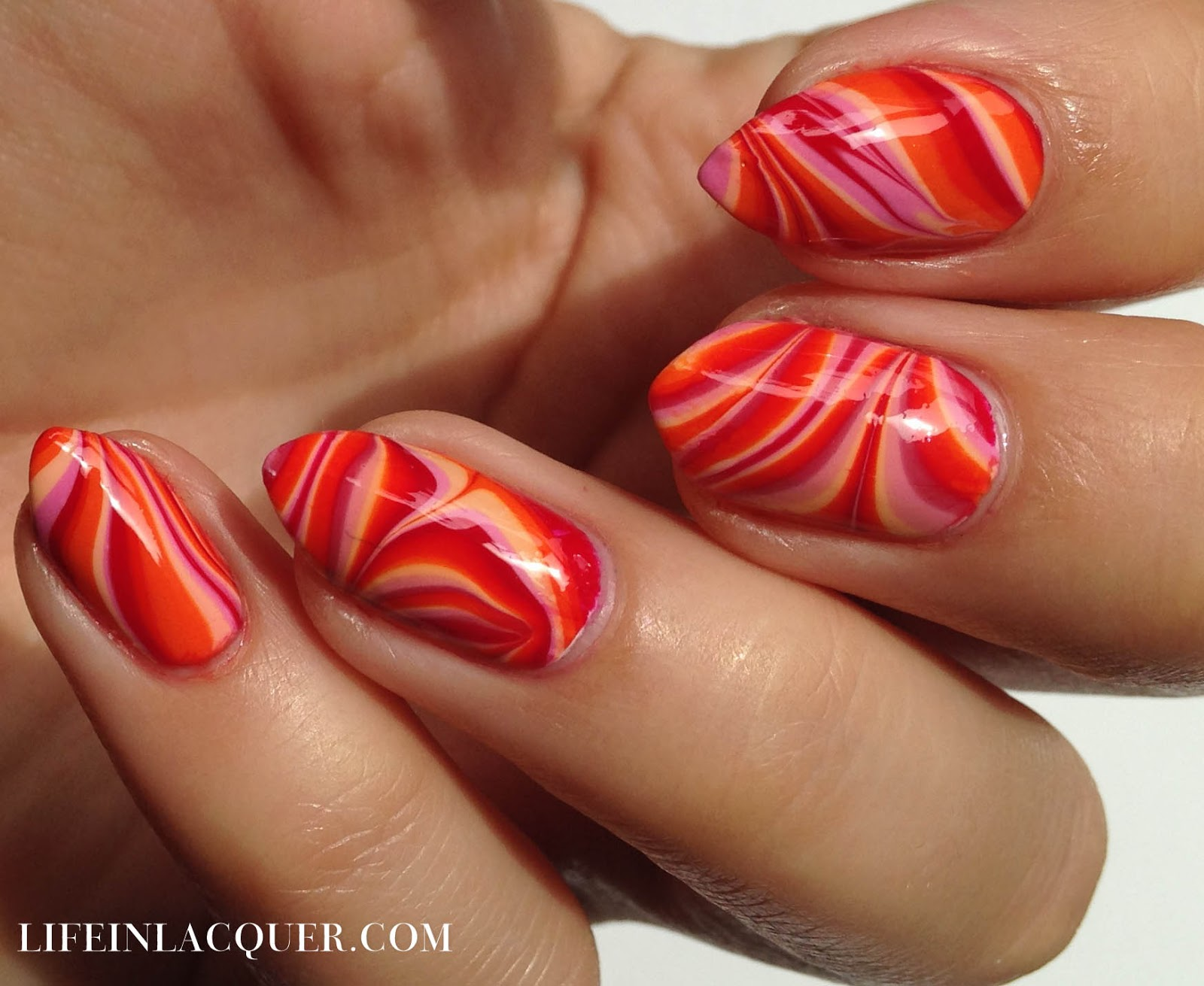 Water Marble Decal Nail Art