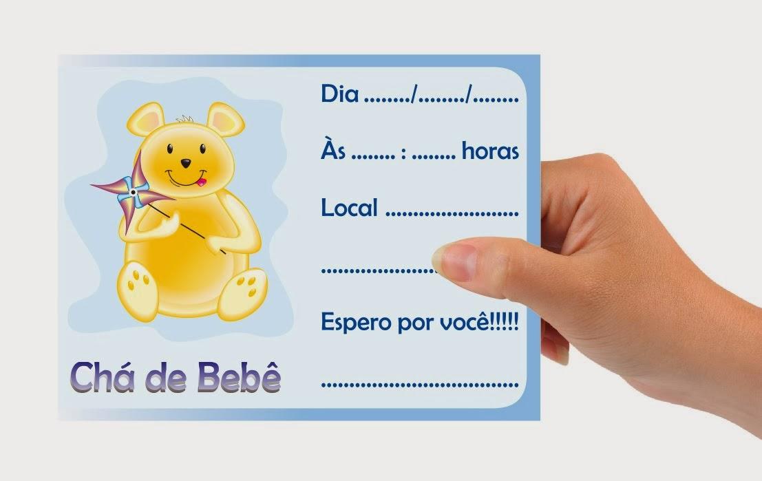 convite ursinho cha de bebe