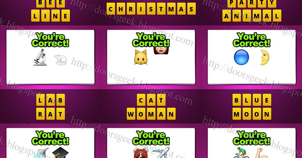 guess the emoji level 10 answers and cheats doors geek