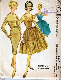 Flashback Summer: Quick Sewing Project Update- McCall's #5517, 1960s wiggle dress