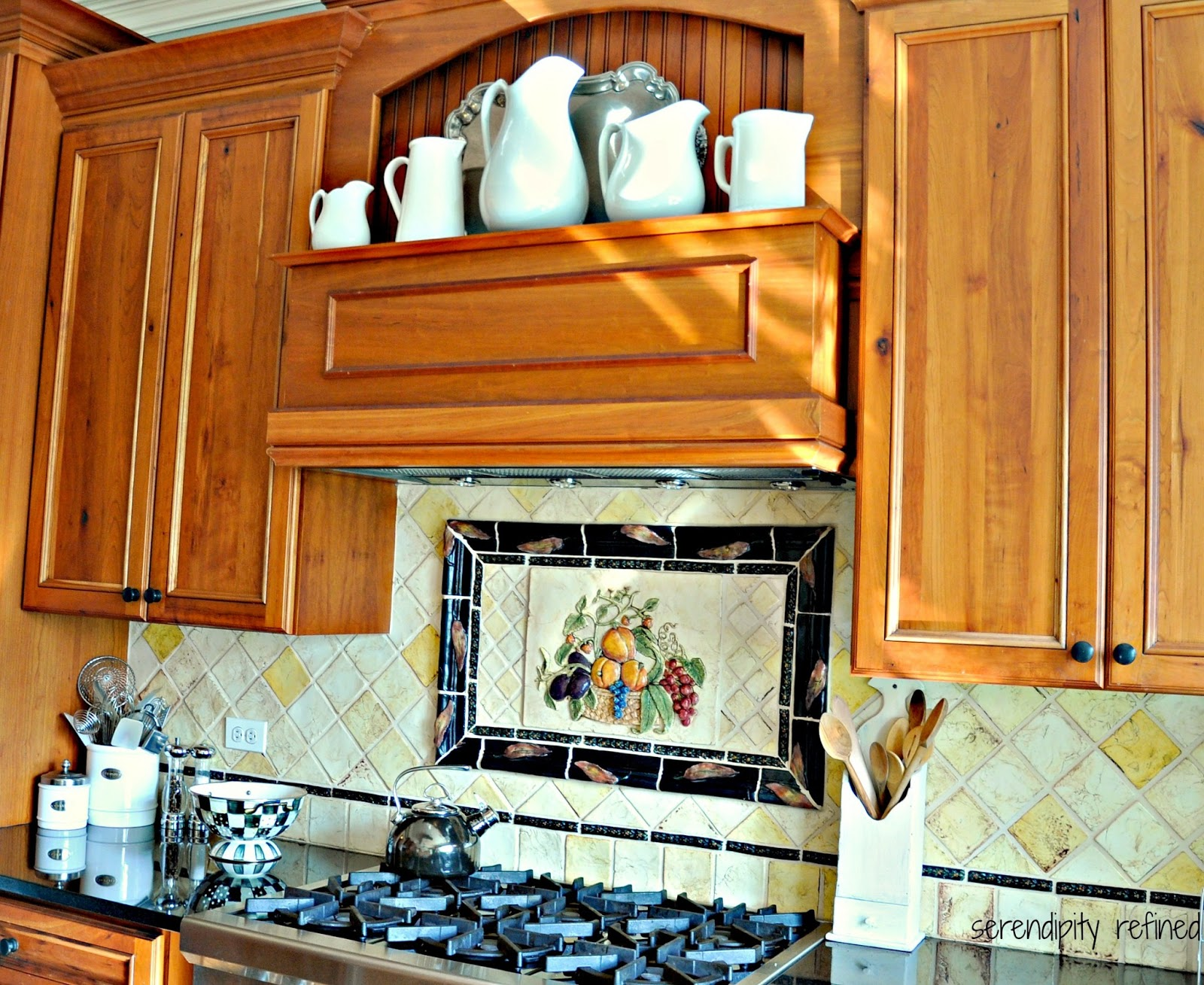 Uncategorized Hand Painted Tiles For Kitchen Backsplash serendipity refined blog my kitchen back splash hand painted ceramic tile formed raku