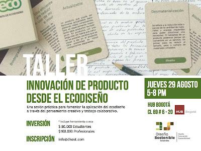Taller innovación de producto ecodiseño mypimes Colombia
