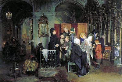 Alexei Korzukhin, Before confession, 1877
