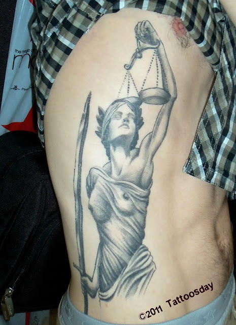 Tattoosday a tattoo blog liberty and justice courtesy for Tattoos of lady justice