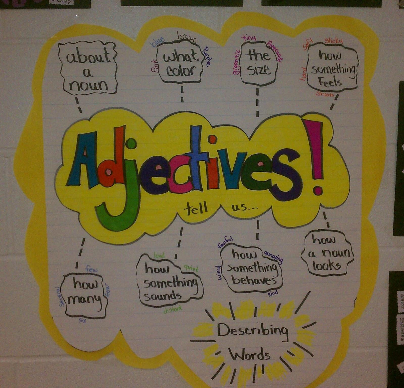 thoughts of a third grade teacher adjectives