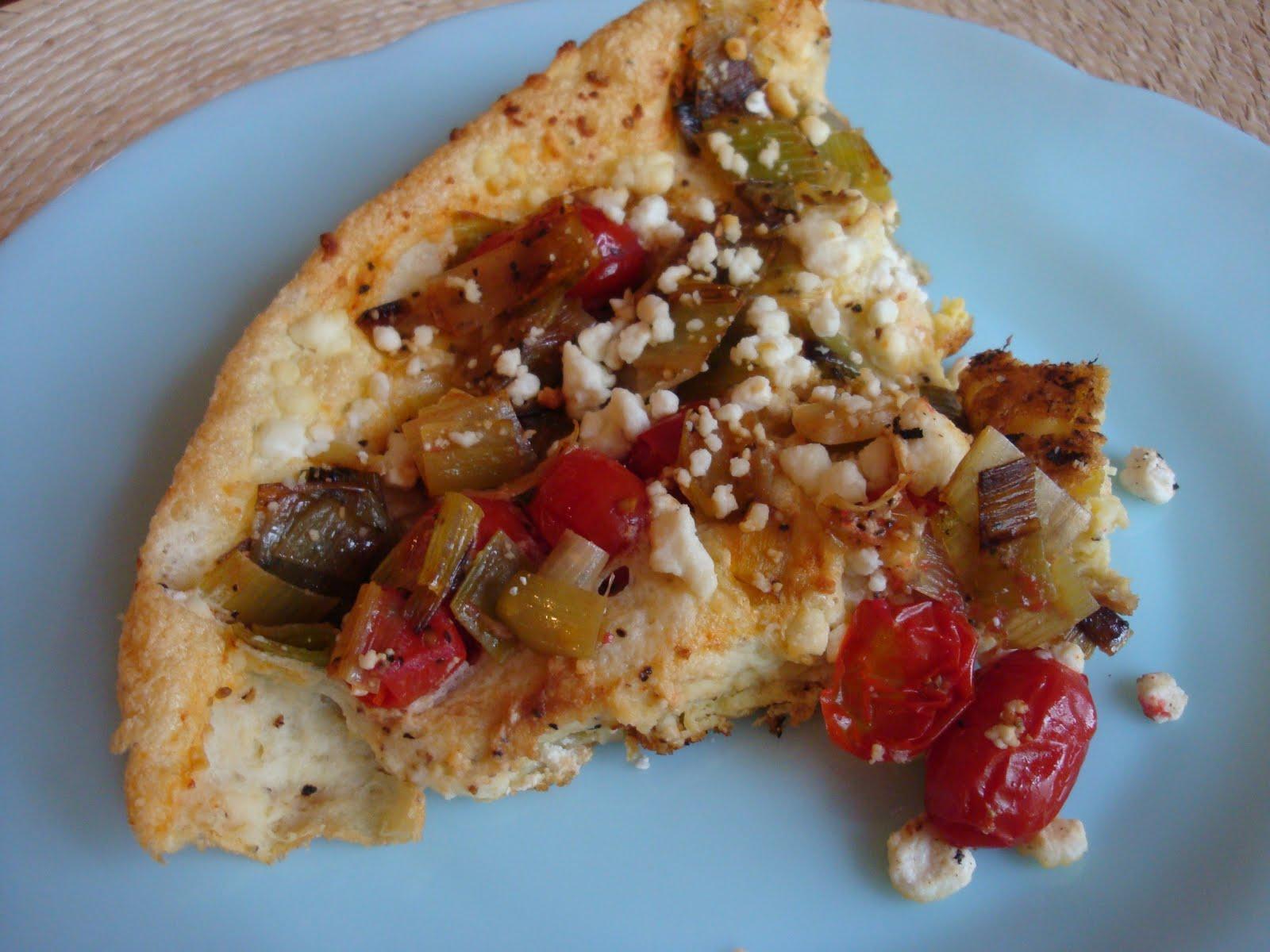 Tomato Leek Frittata with Goat Cheese - Alida's Kitchen