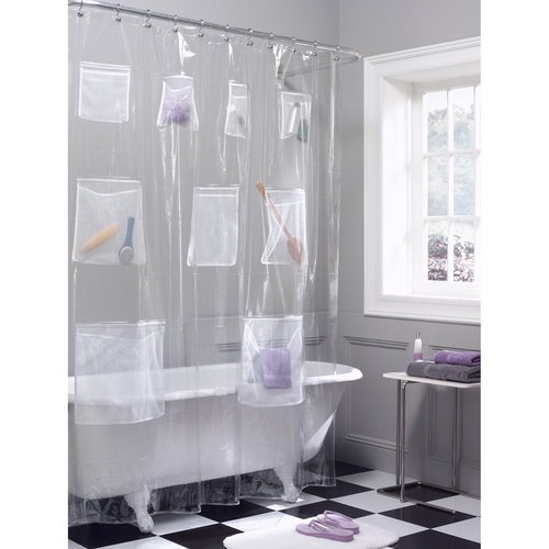 Mainstays PEVA Shower Curtain, Clear