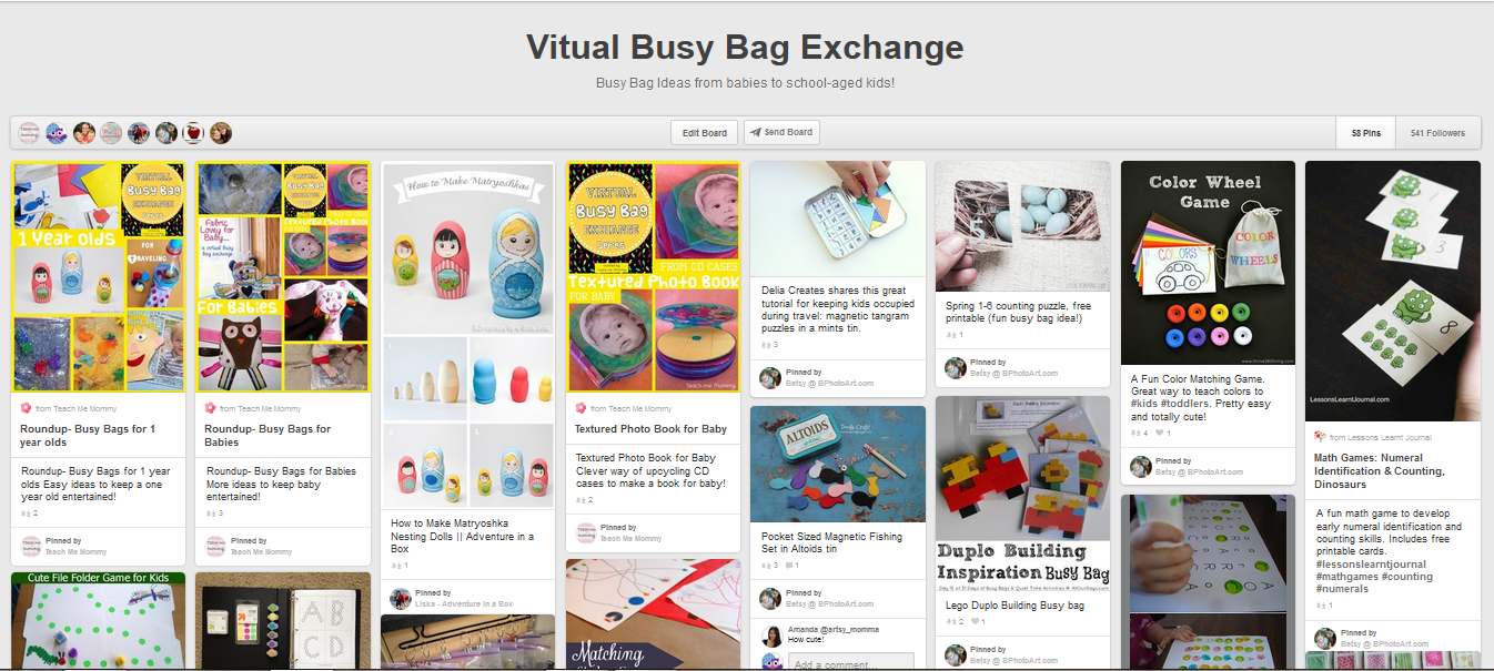 Busy Bag Exchange