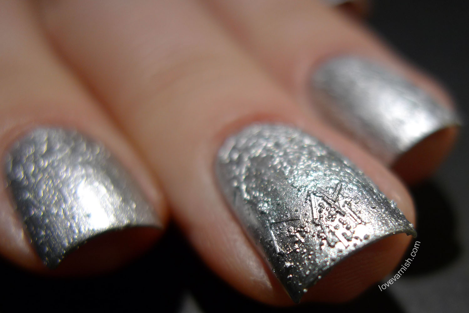 China Glaze Crinkle Chrome Aluminate silver chrome texture