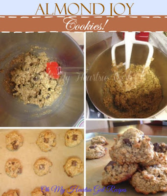 Almond Joy Cookies, shared by Oh My Heartsie Girl