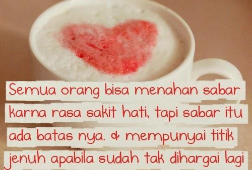 Gambar Foto DP BBM Sakit Hati karena Cinta - Love Romantis