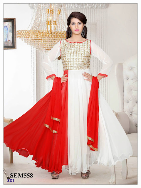 Purchase Georgette Ankle Length Anarkali Suit