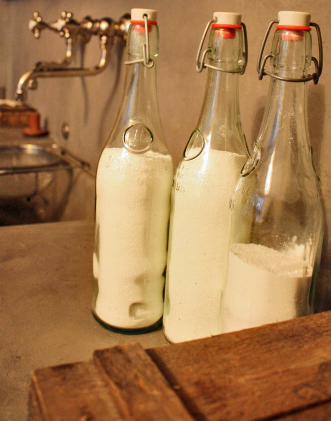 l&l at home:  swing-latch bottles for dishwasher detergent, image by lb for linenandlavender.net