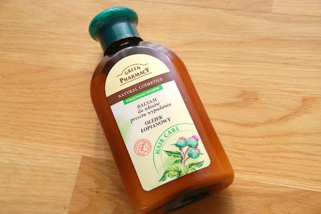 Green Pharmacy balsam do włosów przecyw wypadaniu z olejkiem łopianowym