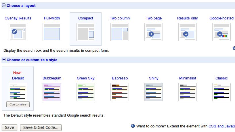 Google Search Widget For Blog