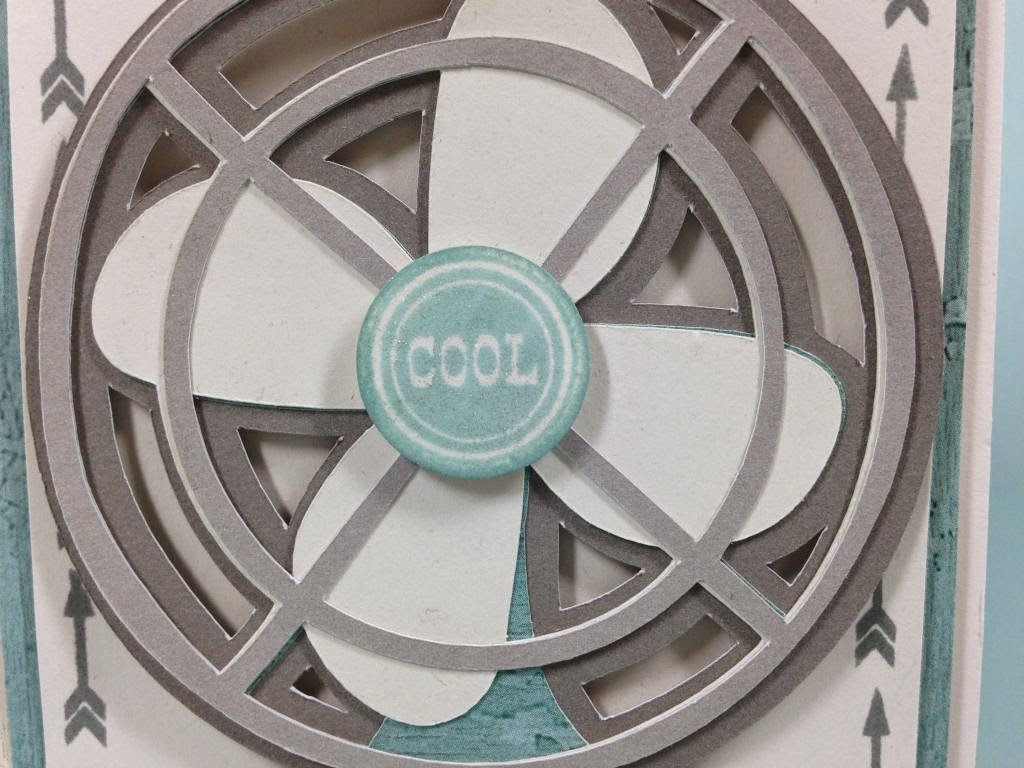 Cricut Cool Fan card closeup