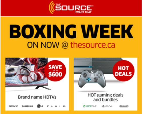 The Source Boxing Week Sale