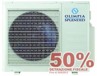 Olimpia condizionatore d'aria 50% detrazione fiscale