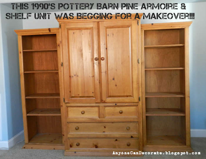 Anyone Can Decorate: Before and After - Pottery Barn Wall Unit Makeover