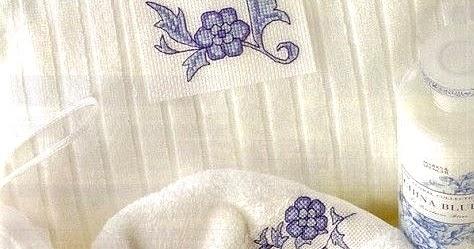 Schema punto croce asciugamani fiori con schemi punto croce per