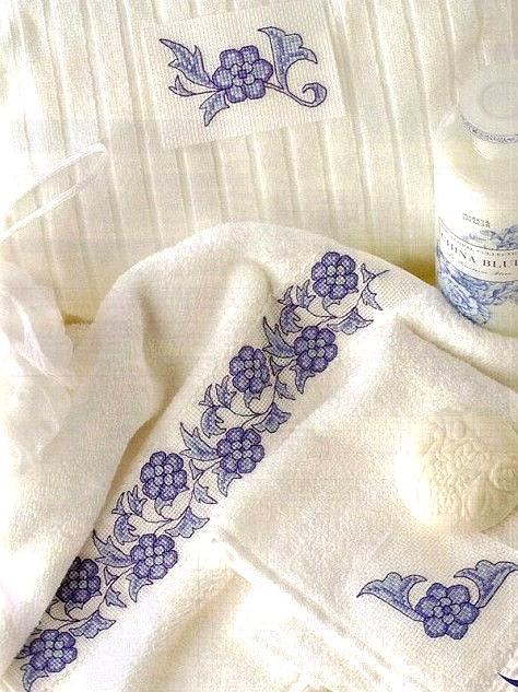 Schemi punto croce - asciugamani bagno