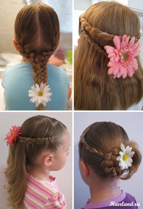Дитячі зачіски на основі кісок і