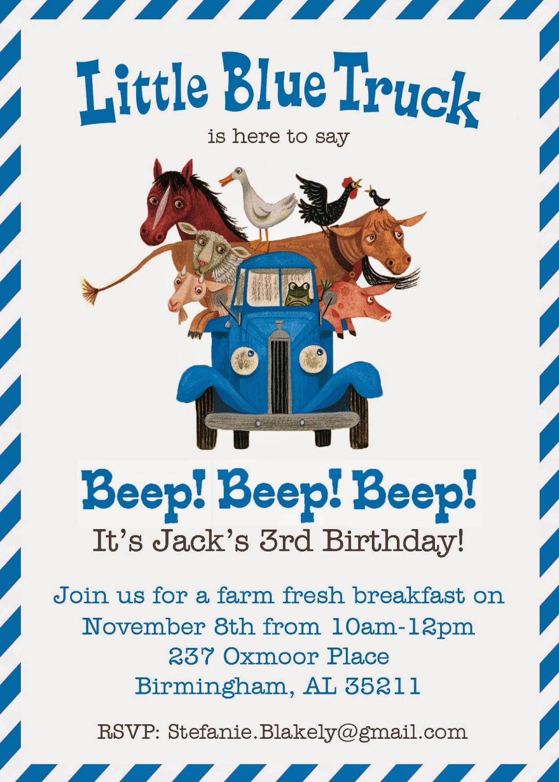 Baby blakely 2014 jacks 3rd birthday we read little blue truck filmwisefo