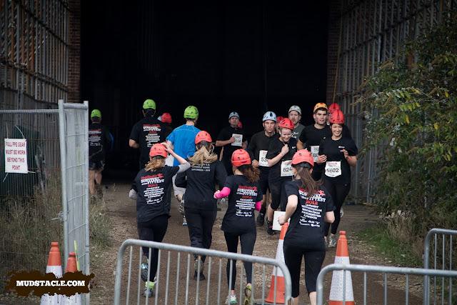 Running inside the power station at Survival of the Fittest