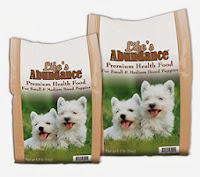 Life's Abundance Puppy food for small/medium breeds