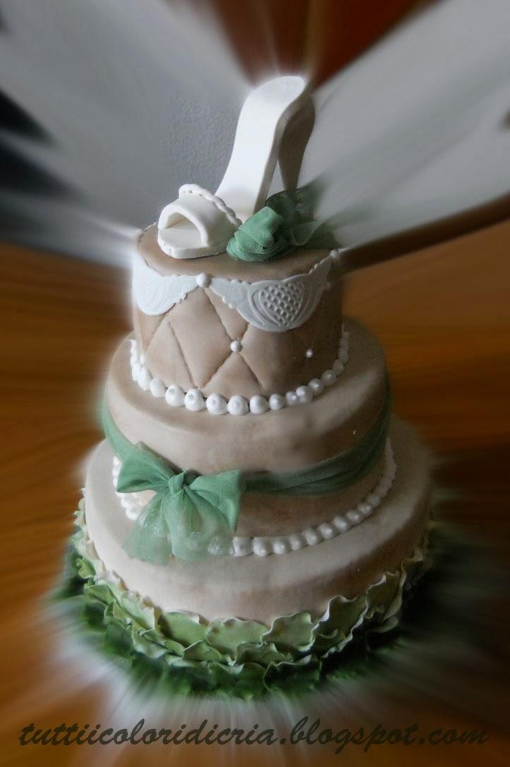 Tutti i colori di cria cake per 18 anni con scarpa - Immagine di una ragazza a colori ...