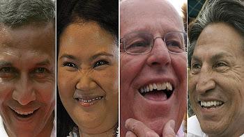 los cuatro más votados en Perú: Ollanta, Keiko, PP y cholo Toledo