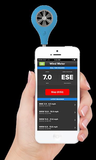 Anemómetro para Smart Phone W-Flow