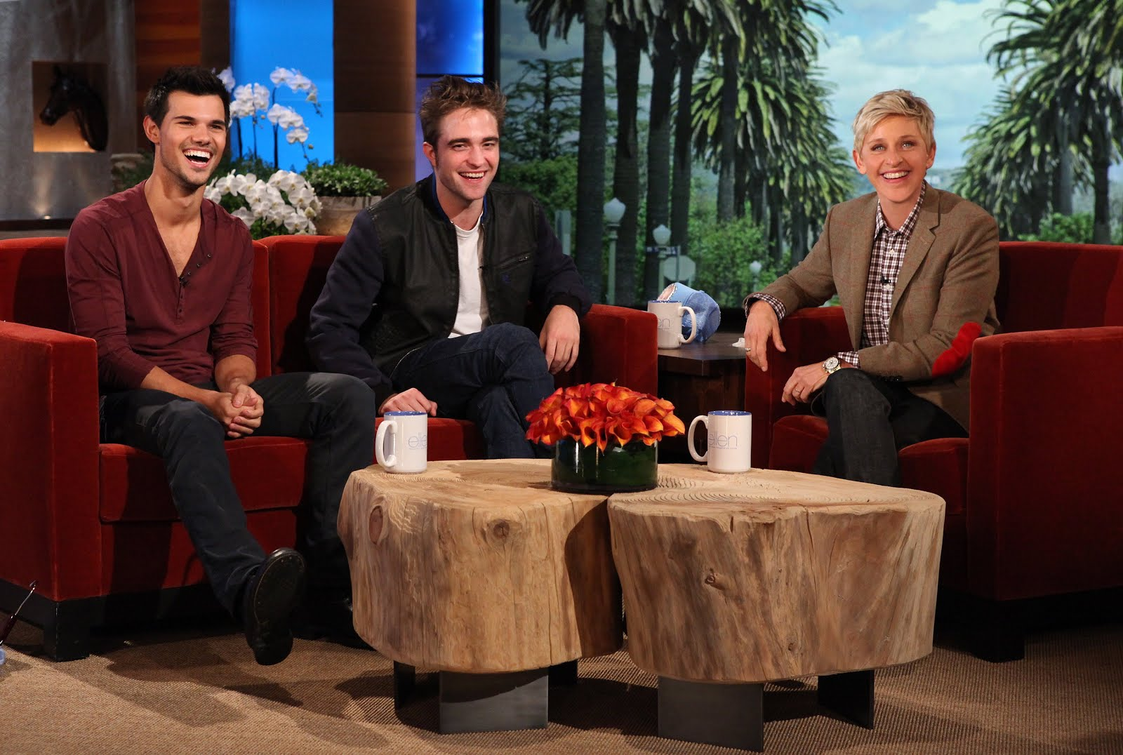 Team kristen stewart rob and taylor on the ellen degeneres show - Ellen show videos ...