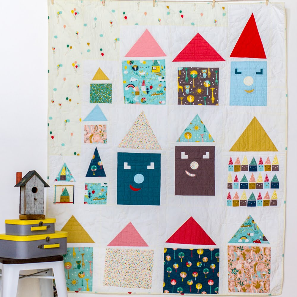 Free Pattern | Happy Houses Quilt