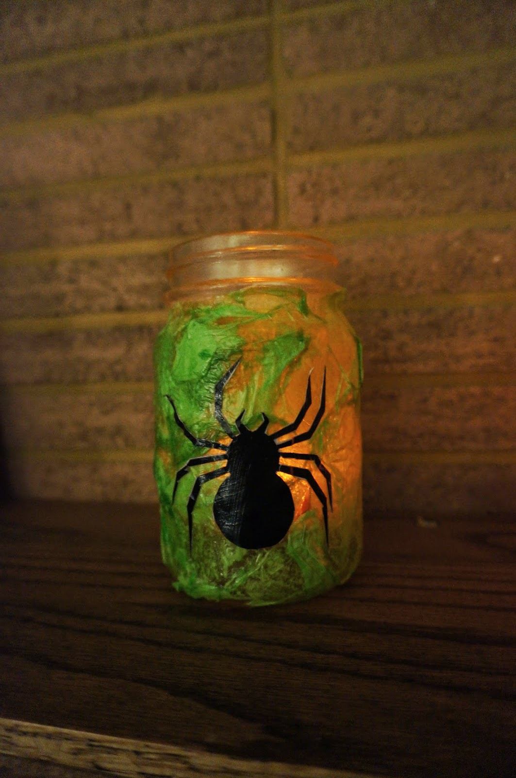 For a simple Halloween decoration, try making these candle jars with your kids. They're easy and spooky and the possibilities are endless.