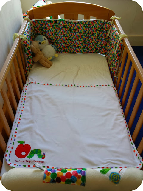 Hungry Caterpillar nursery, hungry caterpillar bedding, cot bedding, very hungry caterpillar, Eric carle