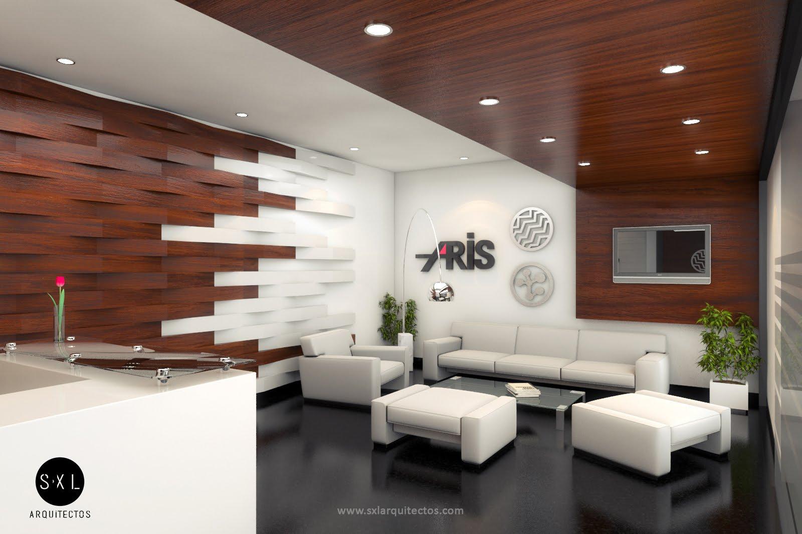 Oficinas aris recepci n s xl arquitectos for Disenos de interiores para oficinas