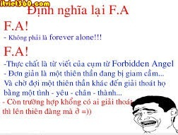 Hình ảnh FA - F.A chủ nghĩa độc thân - Forever Alone hài hước VL