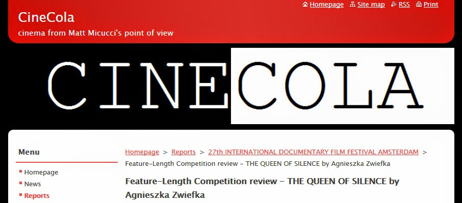 http://www.cinecola.com/reports/a27th-international-documentary-film-festival-amsterdam/feature-length-competition-review-the-queen-of-silence-by-agnieszka-zwiefka/