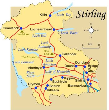 Map of Stirling Province Area