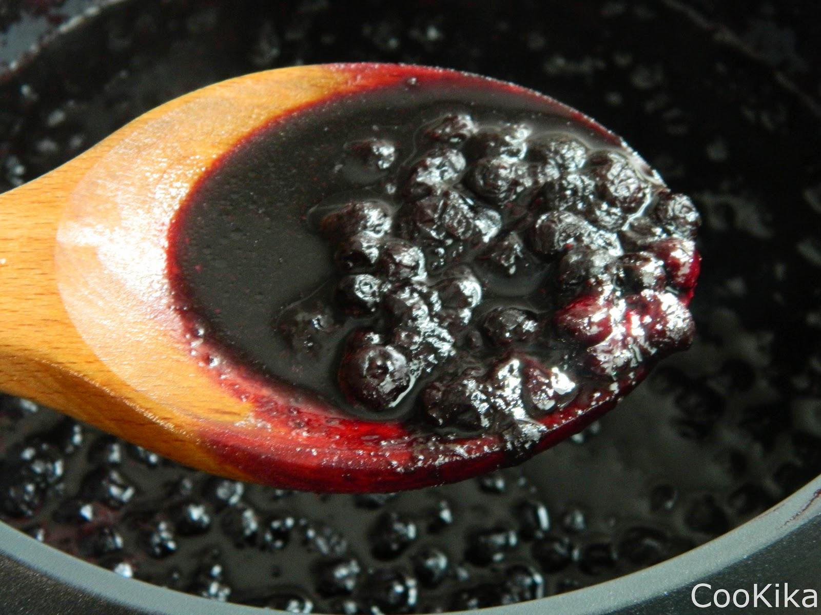 Blueberry jam chia seeds