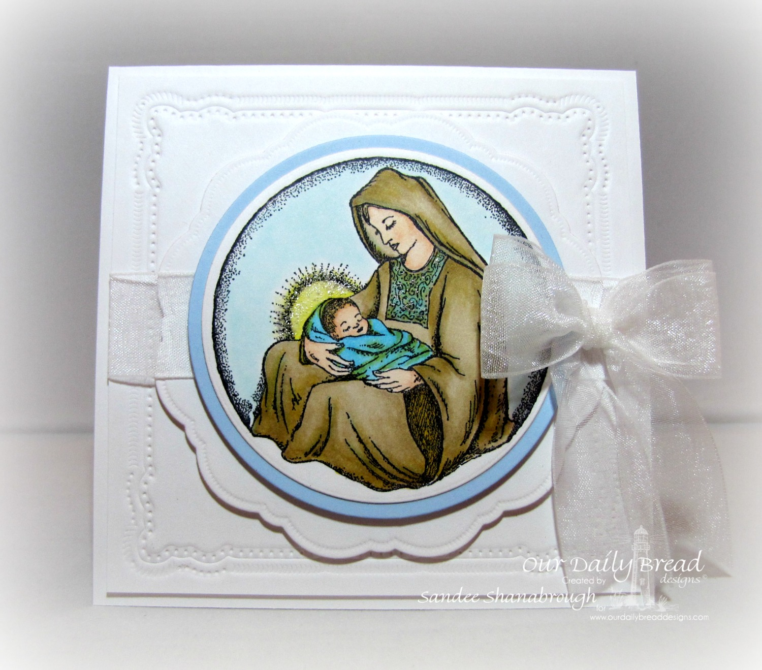 Stamps - Our Daily Bread Designs Mother and Child Ornament, ODBD Custom Matting Circles Dies, ODBD Custom Circle Ornaments Dies, ODBD Custom Doily Dies
