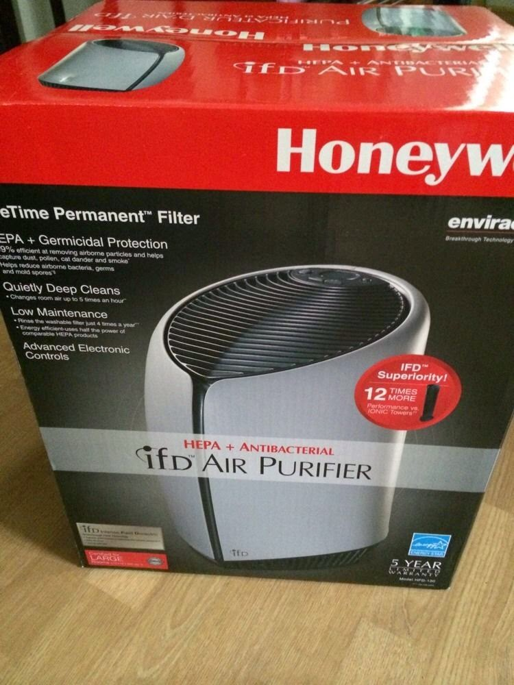 New Honeywell HFD-130 Germicidal Air Purifier Permanent IFD Filter /Large Room