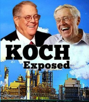 Koch brothers laughing their way to the bank on the backs  of tax payers.