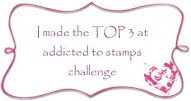 "Top 3 ""addicted to stamps"" lace and pearl challenge"
