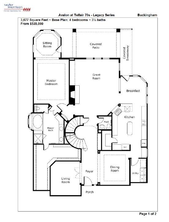 Avalon at telfair telfair floor plans for Avalon floor plan