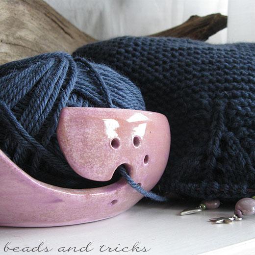 Porta gomitolo in ceramica artigianale