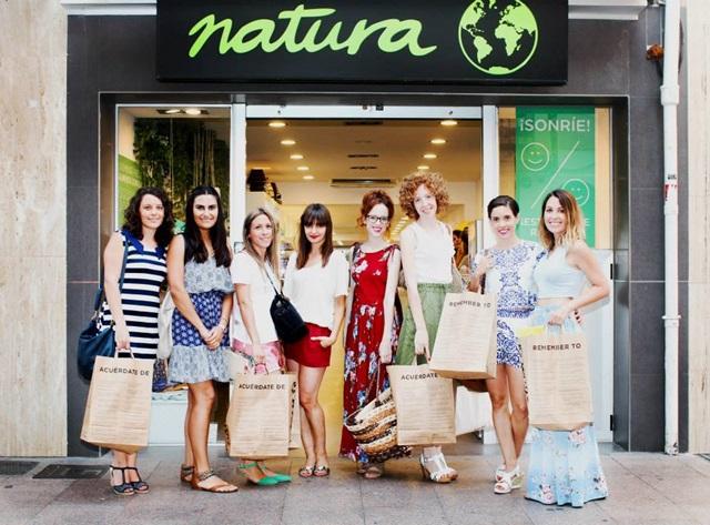 Encuentro bloggers Castellón tienda Natura