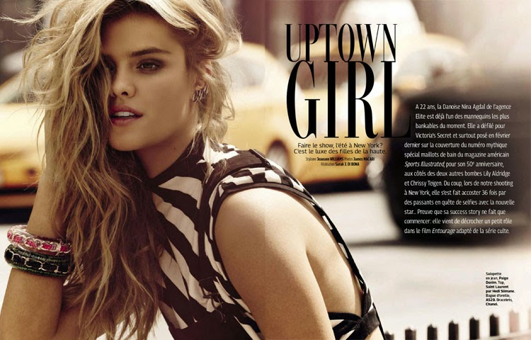 Nina Agdal for Grazia France by James Macari